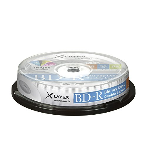 Xlayer BD-R Blu-Ray 50GB Rohlinge 6X Printable 10er