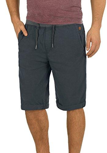 Blend Claude Herren Herren Chino Shorts Bermuda Kurze Hose mit Kordel aus 100% Baumwolle Regular Fit, Größe:L, Farbe:India Ink (70151)
