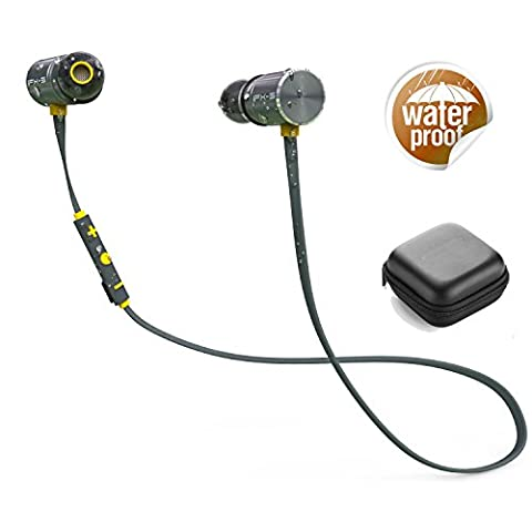 Sports Bluetooth Headphones, Dual Battery 8 Hours Sports Earphones BT4.1 / IPX-5 Waterproof Certification HD Stereo Sweatproof Earbuds for Gym Running Workout Noise Cancelling Headsets