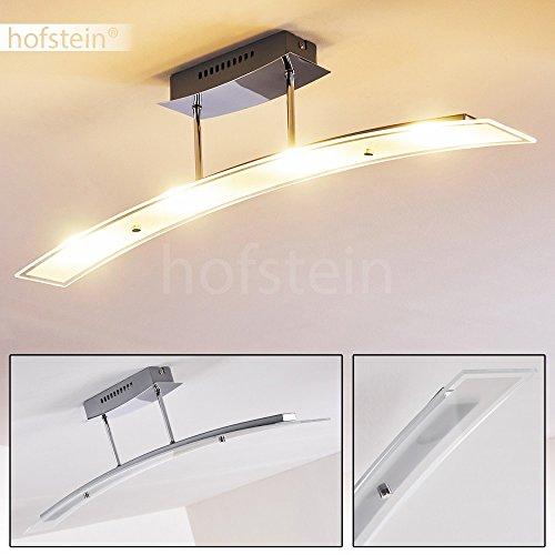 LED Deckenleuchte Broom Aus Metall Chrom   Längliche Zimmerlampe Für  Wohnzimmer   Flur   Schlafzimmer   Büro