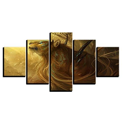 zhenfa Collage de Science-Fiction Animal Merveilleux Cinq Bras 5 Frameless Combinaison accrocher la Peinture (RCA, Colle Double-Face, tels Que Fix Ed ou Cadre Suspension tendue)