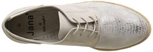 Jana Damen 23609 Sneakers Weiß (WHITE MET STRU 193)