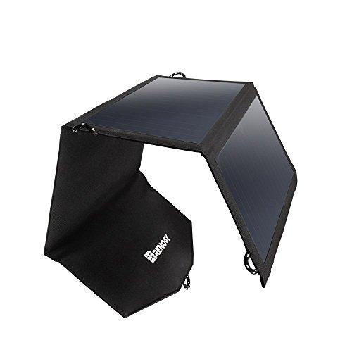 Renogy e.flex - caricatore portatile pieghevole con doppia porta usb, 21 w