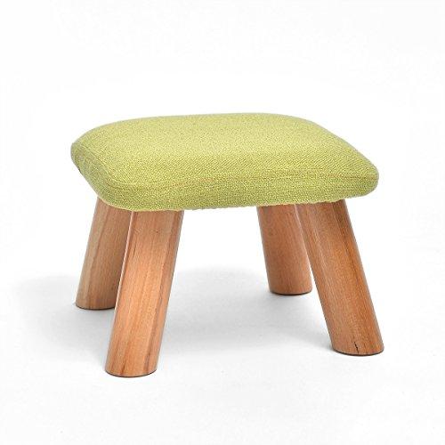 SLH Mode Schuhe Hocker Hocker Hocker Hocker Holz Tee Tischdecke Sofa Hocker Hocker Hocker von Kindern (Color : Matcha)