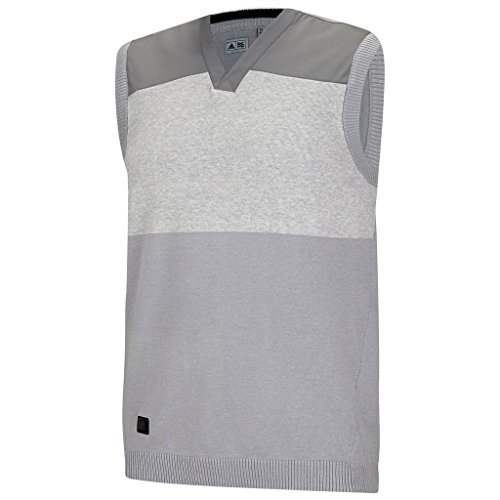 Golf V-neck Tank Top (Adidas 2015 Sport Classic V-Neck Sweater Vest Tank Top Mens Slipover Mid Grey Small)