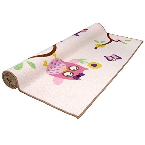 Infantastic Kinderteppich mit Eulen von S bis XXL in bunten Farben aus widerstandfähigem Polyester mit 7 mm Höhe (160x230 cm)