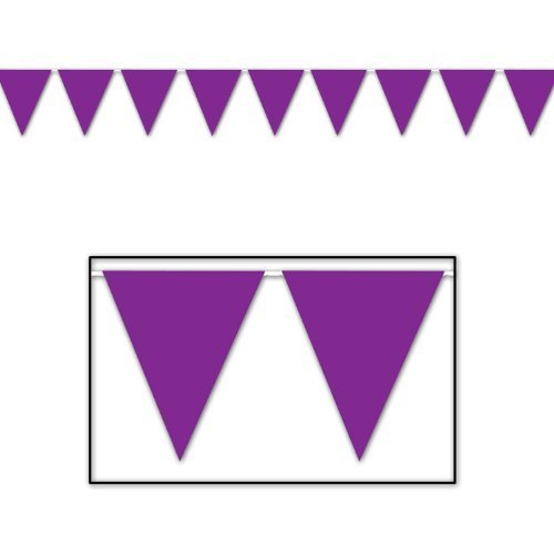 Indoor/Outdoor Pennant Banner (purple) Party Accessory (1 count) (1/Pkg) by Grim Reaper (Banner Purple Pennant)