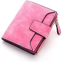 14db1ffd8 Zmsdt Billetera De Cuero para Mujer Hebilla Pequeña Y Delgada Monedero para  Damas Billetera Tarjeta De