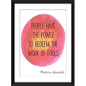Patti Smith 'People Have the Power' / Leute haben das Energie Zitat Ungerahmter Druck
