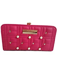 d53609b2d River Island Ladies Pink Pearl Quilted Clip Top Purse