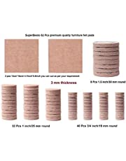 SuperBesto Furniture Felt Pads 82PCS Self Sticking Round Floor Protective, Heavy Duty Furniture Legs Guard Non-Skid Non Slip Noise Reduction Bumpers pad