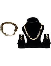 Trisha Jewels 24K Gold Plated Gold Color Necklace Set
