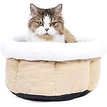 Ohana Cama de Forro Polar para Mascotas, Redonda, con Forma de Donut, para
