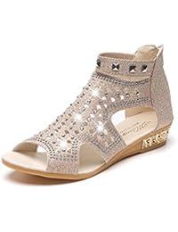 Sandalias mujer ❤ Amlaiworld Sandalias de cuña mujer sandalias mujer de primavera verano 2018 vestir con plataforma Zapatos de planas…