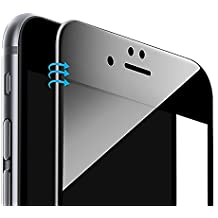 """iPhone 6 6s Cristal Templado Protector de Pantalla MegaWire 3D Curvo para iPhone 6/6s 4,7"""" [3D Touch Compatibles]. Cubre toda la Pantalla - Negro"""