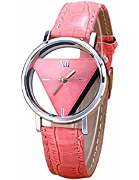 Darringls_Reloj,Sencillo Triángulo Reloj Personalidad Moda Doble Cara Hueco Estudiante Pareja Mesa Moda Reloj de Pulsera análogo de…