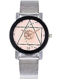 ZXMBIAO Reloj De Pulsera Moda Correa De Malla Metálica Relojes De Pulsera  Reloj De Hombre De Acero Inoxidable… 6d24f32dbd44