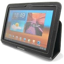 Funda Executive Stilgut original en piel autentica con función de soporte para el Samsung Galaxy Tab 10.1 (GT-P7500), negro