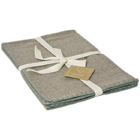 Baby coperta bambini coperta 80 x 100 cm in 100% Baby lana di alpaca lana Royal zig zag verde