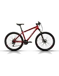 Megamo Natural 50 Bicicleta de Montaña, Hombre, Rojo, M