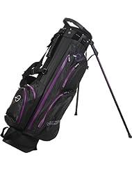 Spalding Sac de golf trépied imperméable-Noir/violet - 7,5 cm