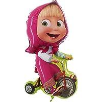 Globo de Masha con bicicleta