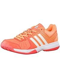 adidas Ligra 4 W - Zapatillas de voleybol para Mujer, Naranja - (CORSEN/FTWBLA/NARBRI) 33
