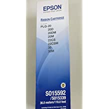 COMPUTER CONSUMABLES COMPANY (EPSON AUTHORIZED DEALER) Epson Plq-20 Ribbon (Black) - Pack of 3