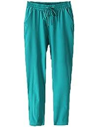 Smile YKK Pantalon Mousseline de Soie Femme Legging Fluide Automne Hiver Soirée Casual Elégant