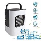 TPulling Kühlventilator-Kühler  USB Lade Mini Tragbare Klimaanlage Kühlschrank Luftkühler Nano Fan Tragbare Kühlung Flow Filter Hot Klimagerät Ventilator Luftreiniger (D)