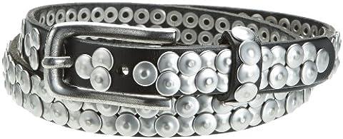 Liebeskind Damen Gürtel LKB52 vintage, Gr. 85, Schwarz
