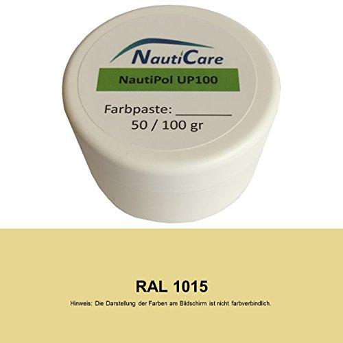 NautiCare NautiPol up 100 Farbpaste 100 g - Farbe Hell-Elfenbein RAL 1015 - Farb-Paste Zum Einfärben von Polyesterharz - 35 RAL Farben zur Auswahl - 24 Elfenbein Farbe