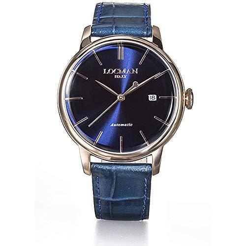 Orologio Uomo 1960 Acciaio Rose Automatico Blu Locman