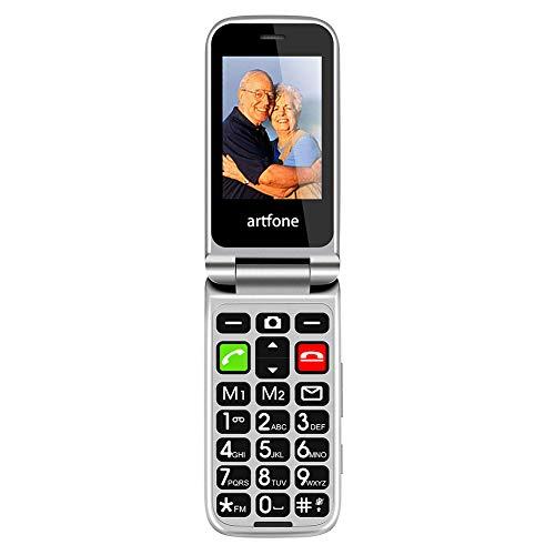 Artfone CF241A Senioren-Handy, Klapphandy mit großen Tasten und ohne Vertrag, Mit Notruf-Knopf und Taschenlampe