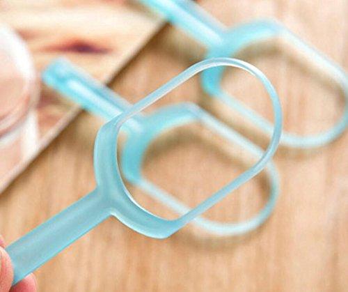 DDOQ Sinnvoll 10 Stücke Zungenbürste Zungenschaber Oral Cleaner Zungenreiniger Oral Care Tools Frischer Atem (Blau) (Farbe : Blau)