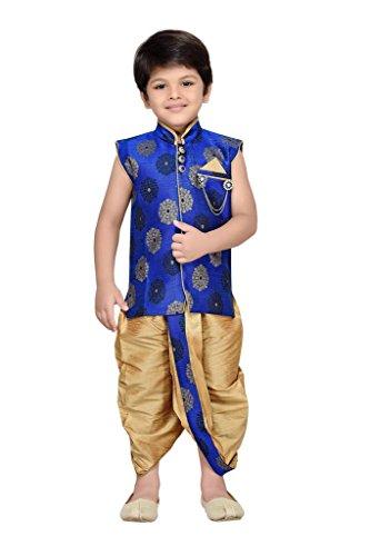 AJ Dezines Kids Angrakha Dhoti Pant Set for Boys (7002_BLUE_6)