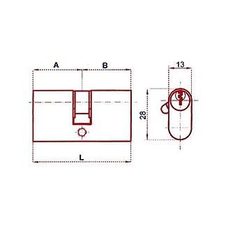 Lince 3017840 Cilindro Ovalado Niquelado 0603/54 mm