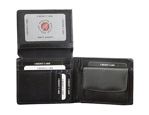 100% bloqueo RFID KORUMA cartera-Elegance negro 9.5 x 12.5 cm