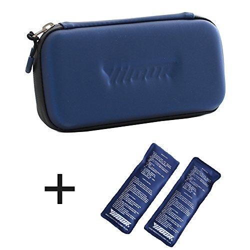 41F 146p3ZL - Bolsa de Insulina para Diabéticos, Bolsa Diabética para Guardar Jeringas para Giabéticos, Insulina y Medicamentos - Azul
