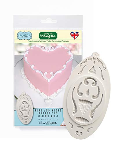 Katy Mini Set (Mini and Micro Border Set Silicone Mould for Cake Decorating, Cupcakes, Sugarcraft and Candies, Food Safe)
