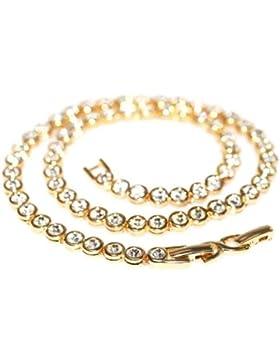Le BIJOU Tennis-Collier made with CRYSTALLIZED TM - Swarovski Elements, crystal-gold -IM SCHMUCKBEUTEL