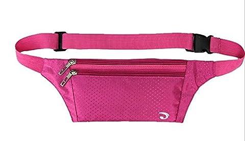 KISS GOLD Hüfttasche Gürteltasche Bauchtasche Waist Bag Nylon rosa