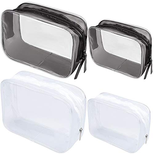 Paquete 4 neceseres Viaje Transparentes PVC Cremallera
