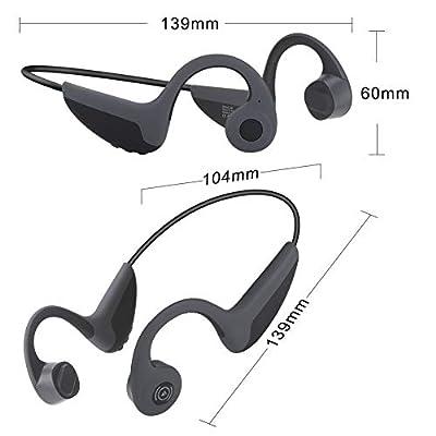GlobalCrown Casque Conduction Osseuse Bluetooth,Ecouteurs Conduction osseuse sans Fil Oreillette Bluetooth avec Microphone HD pour l'écoute du Sport Cyclisme Courir Gym (5 Heures de Temps de Jeu) par Globalcrown