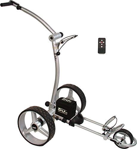 Elektro Golf Trolley PGE 3.0 Funkfernbedienung, USB, 400W , Akku 33Ah, silber