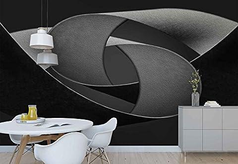 Vlies Fototapete Fotomural - Wandbild - Tapete - Papier Band Formen Strudel Textur - Thema Texturen und Effekte - MUSTER - 104cm x 70.5cm (BxH) - 1 Teilig - Gedrückt auf 130gsm Vlies - 1X-892606VEM
