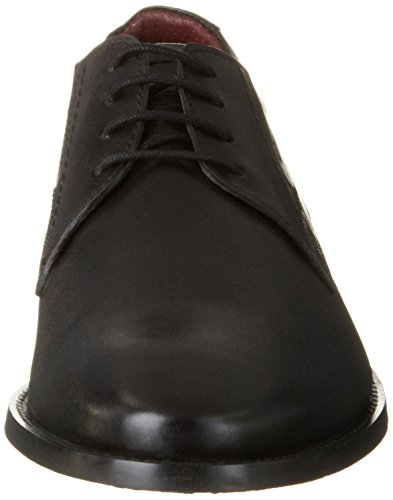 s.Oliver 13213, Scarpe Stringate Basse Oxford Uomo Nero (BLACK 001)