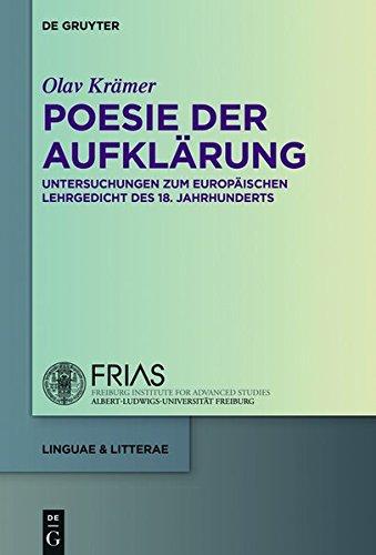 Poesie der Aufklärung: Studien zum europäischen Lehrgedicht des 18. Jahrhunderts (linguae & litterae)