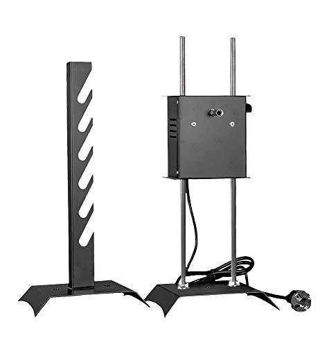 Girarrosto elettrico losa con coppia forchette fermacarne e spiedo in acciaio inox