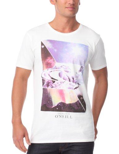 O'neill Crystal - T-Shirt da uomo stampata a maniche corte, bianco (bianco), M